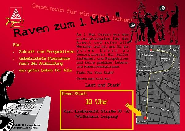 Demo-Flyer der IG Metall-Jugend