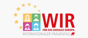 Logo DGB Frauen zum Frauentag