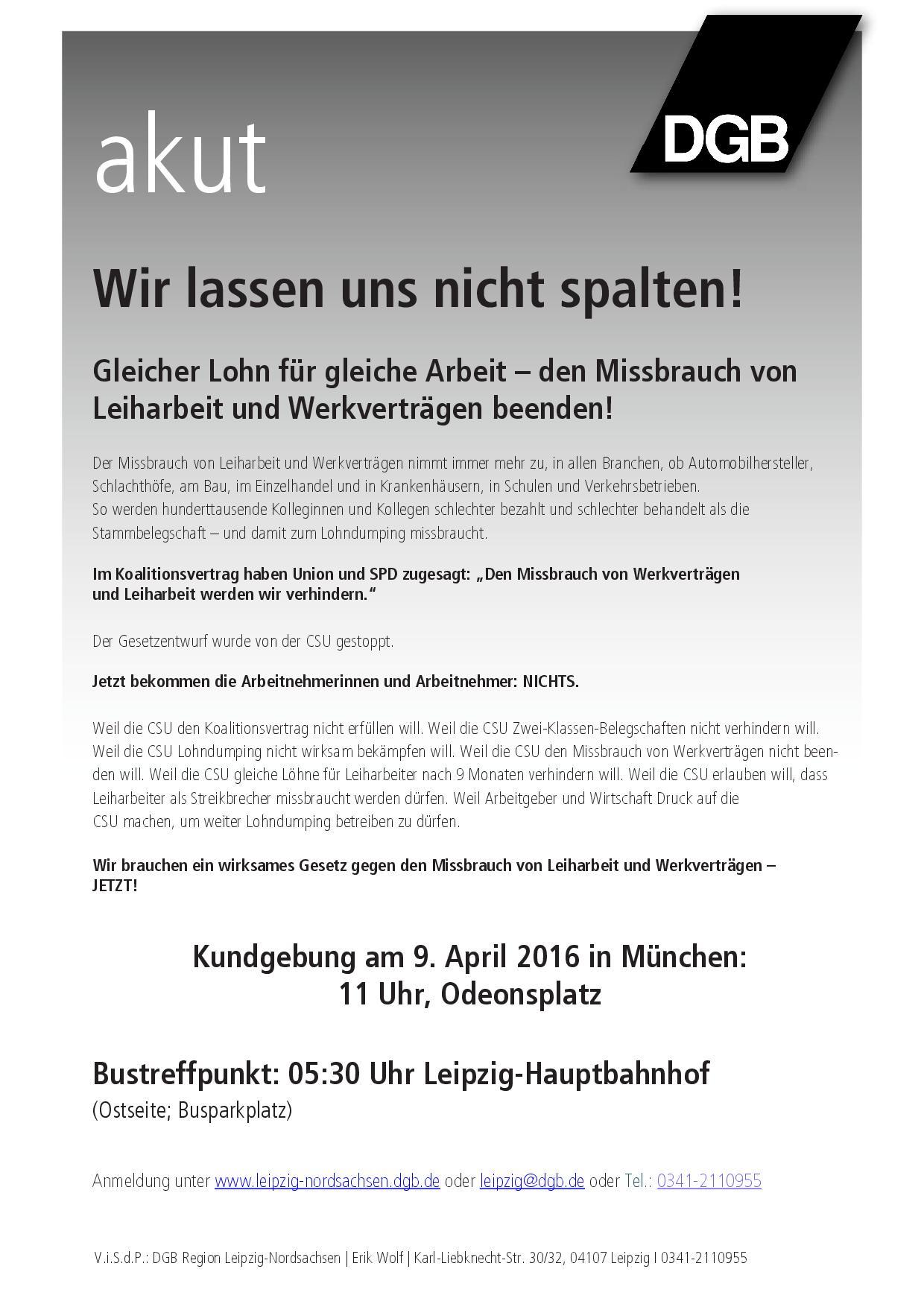 Aufruf/Leipzig