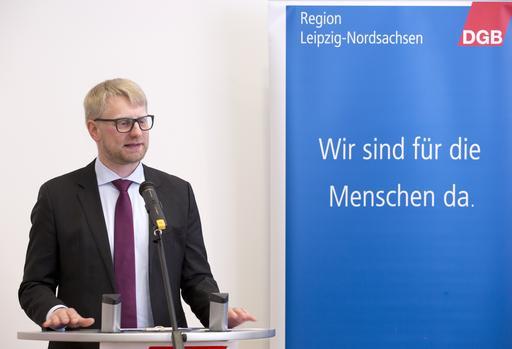 Erik Wolf beim Neujahrsempfang 2017 des DGB Leipzig-Nordsachsen