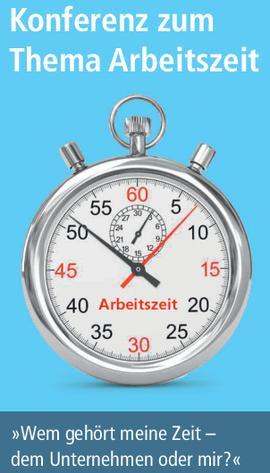 Eine Uhr und der Veranstaltungstitel