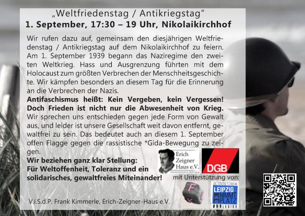 Flyer zum 1. September Leipzig