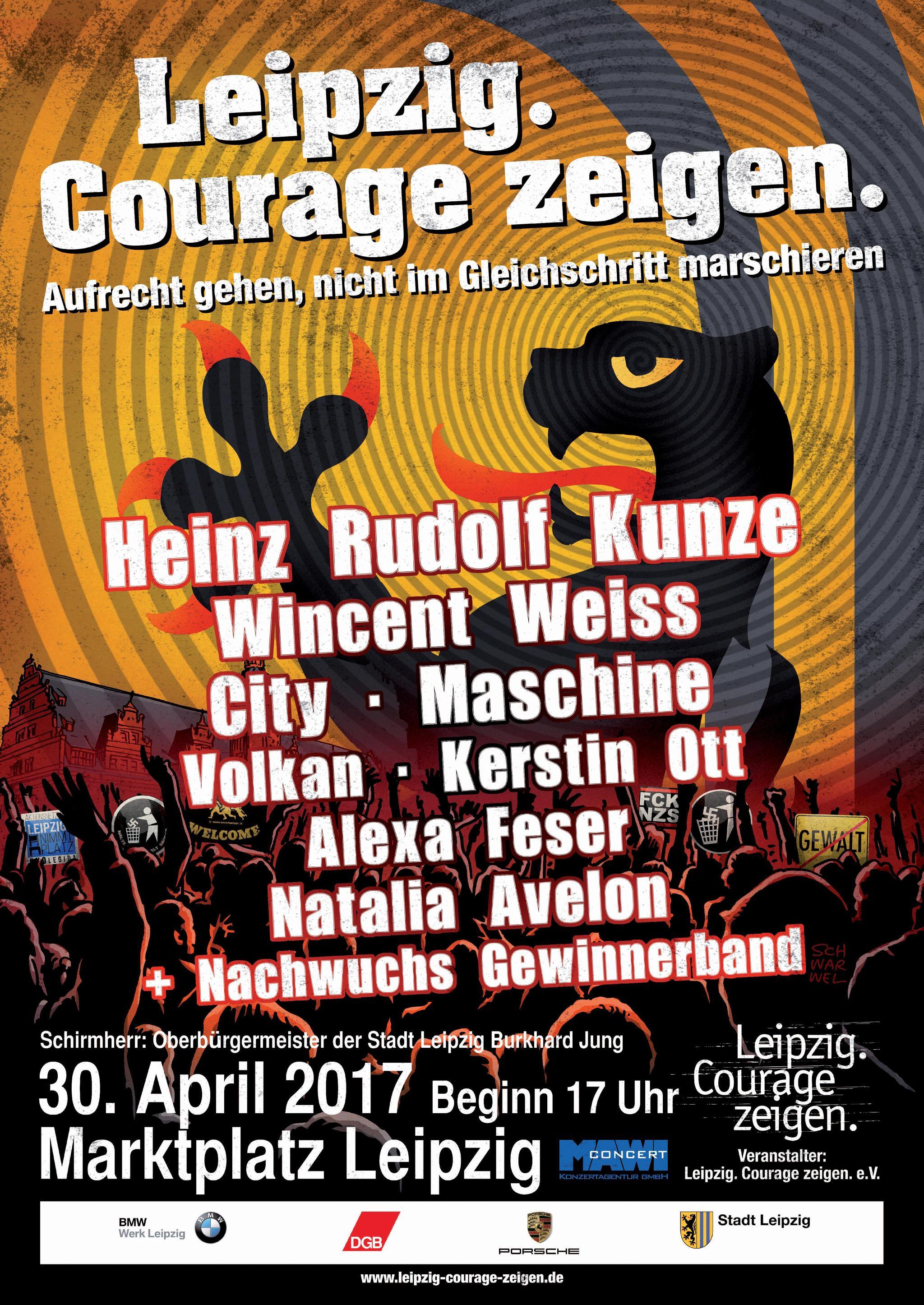 Plakat zum Courage Konzert