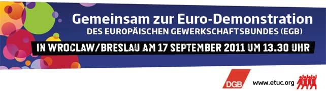 Eurodemonstration am 17. September 2011