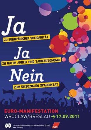 Plakat Eurodemo 17. September 2011