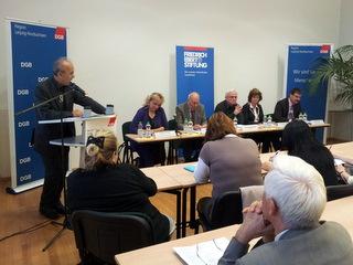 DGB/FES-Forum am 09.10.12 in Leipzig