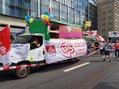 LKW der Gewerkschaften bei #unteilbar in Leipzig