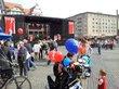 Blick auf die Bühne (vor der Kundgebung)