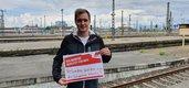 Aktion der EVG Leipzig zum 1. Mai 2020 #SolidarischNichtAlleine