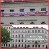 Banner am Haus der IG Metall Leipzig zu #SolidarischNichtAlleine